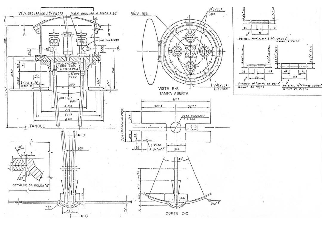 Figura 1 - Domo e layout das válvulas