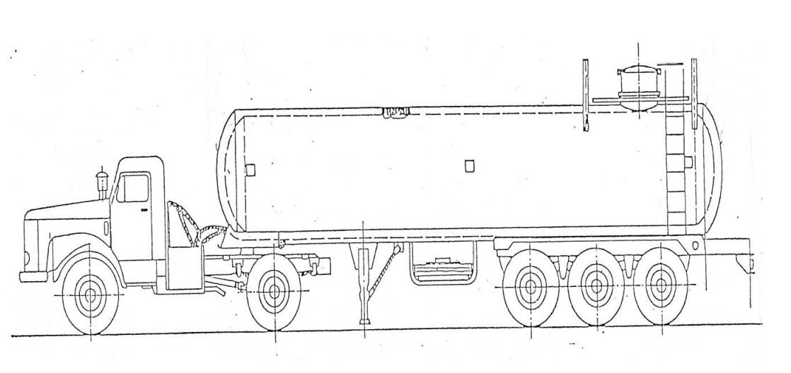 Figura 3 - Aspecto Geral do Conjunto de Transporte de Cloro Líquido