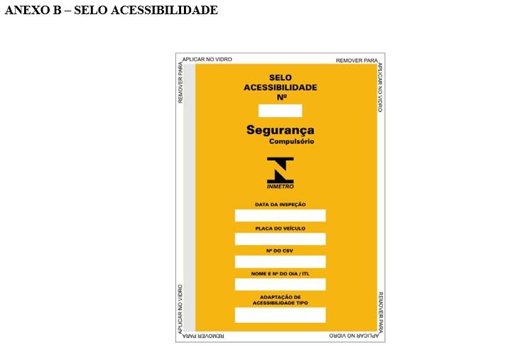 Imagem ilustrativa do selo de acessibilidade.