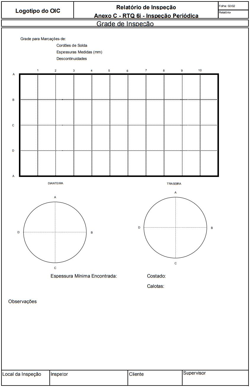 Relatório de Inspeção Anexo C - RTQ 6i - Inspeção Periódica Grade de Inspeção