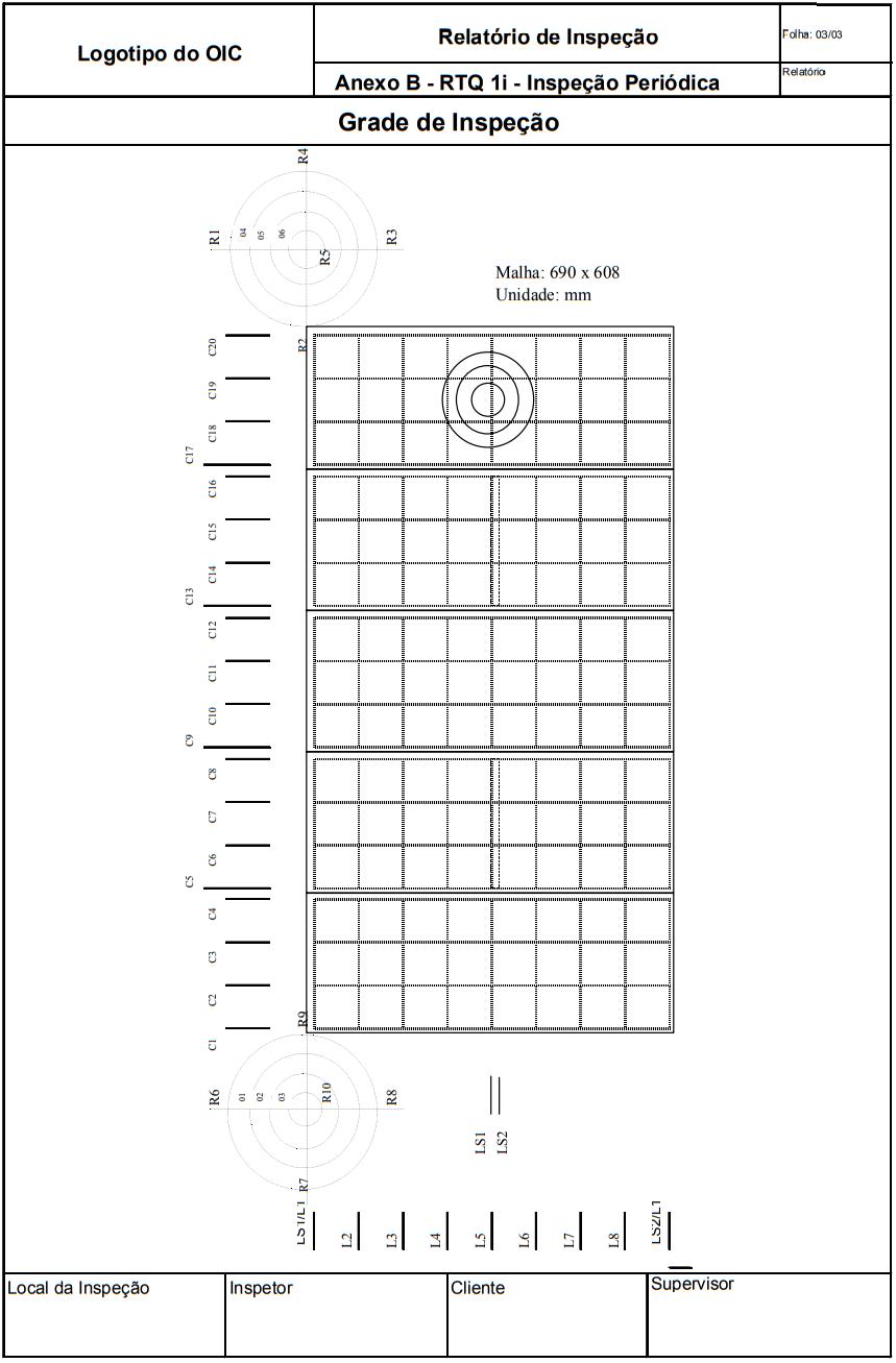 Relatório de Inspeção Anexo B - RTQ 1i - Inspeção  Periódica Grade de Inspeção