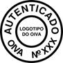 Representação da chancela do CIV, da autenticação do OIVA, para número do chassi de veículos rodoviários.
